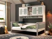 梓华轩 简美 卡慕斯系列 泰国入口橡胶木 适用书厨功效 1.35*1.9m儿童床(不含小书架)