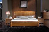 MS001#瑞德家居 幕尚系列 中式气概   实木框架  1.8m高箱床
