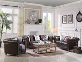 B101#瑞德家居 维多利亚系列 简美气概 实木框架 皮艺沙发套装(1+2+3)