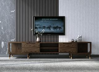 B815#瑞德家居  北欧乡村风格 白蜡木框架 拉伸电视柜