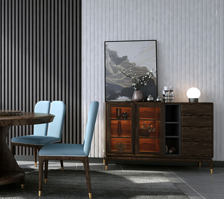 B801#瑞德家居  北欧乡村风格 白蜡木框架 餐边柜