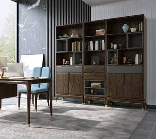 B801#瑞德家居  北欧乡村风格 白蜡木框架  单门书柜