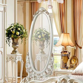 5510#瑞德家居 系列 欧式故乡气概 精彩雕花 描金工艺  穿衣镜