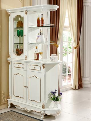 5510#瑞德家居 系列 欧式故乡系列 描金工艺 优良实木  间厅柜