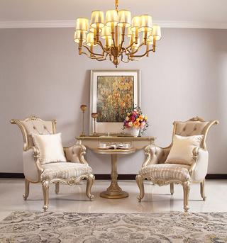 672#瑞德家居  美式轻奢气概 卡斯楠木  高级皮布休闲椅