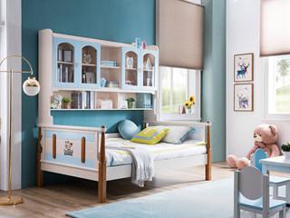 地中海实木儿童床506# 1.5米功效床