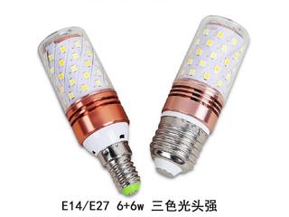 E14秃顶强白光12W光源 图片左边