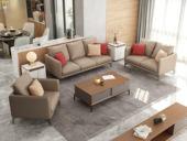纳德威 古代繁复气概 优良耐磨科技布面料 安定实木框架 布艺沙发组合(1+2+3)