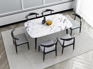 轻奢气概 1.6米 大理石 餐桌