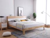 北欧印象 北欧气概 泰国入口橡胶木1.8米实木床