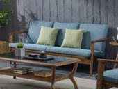 源木光阴 北欧气概 北美入口洋蜡木 布艺沙发 冬夏两用沙发 三人沙发