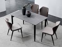 洛林菲勒 极简气概 碳素钢脚 浅灰 餐椅(单把价钱 需双数采办 双数不发货)