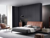 洛林菲勒 极简气概 碳素钢脚 床头柜