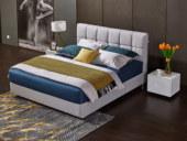 玛蒂芙 古代繁复 优良棉麻 实木框架 高弹海绵 文雅浅灰1.8*2.0m双人床