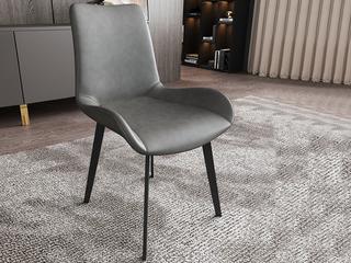 极简气概 高品德磨砂皮 碳素钢椅脚 餐椅(1把价钱,2把起售,不但卖)