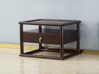 新中式气概 紫檀色 优良橡胶木床头柜