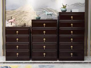 新中式气概 紫檀色 客堂寝室 橡胶木五斗柜