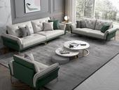 慕梵希 轻奢气概 全实木框架 羽绒公仔包 1+2+3科技布沙发组合