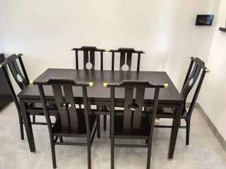 新中式 东南亚进口红檀木 C954餐椅