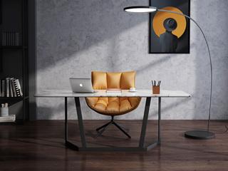 意式极简 大理石  T1006样色1.6米长方形书桌