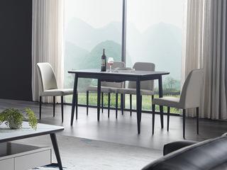 极简风格 耐高温岩板面 拉伸功能款 餐桌