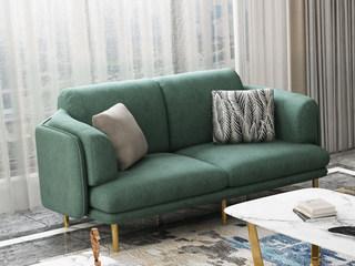 现代简约 亲肤涤棉绒面 全拆洗结构 小户挚爱 双人沙发