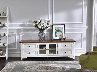 北美进口红橡+黄杨 嘉宝莉环保漆 简美风格 奥斯顿电视柜