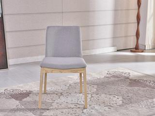 北欧宜家 实木布艺餐椅 餐椅