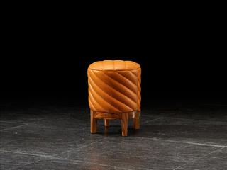 简乌金系列 PU(座包)+乌金木(面板、柜体、脚)+妆凳