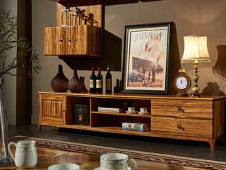 简乌金系列 乌金木(柜体、底框、脚)+松木(抽屉)+烤漆+铜制(拉手)地柜