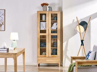 北欧风格 原木色 实木 书柜