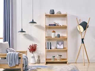 北欧风格 原木色 实木 置物架