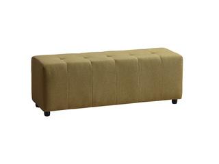 现代简约 柠檬黄 1.3米 布艺床尾凳