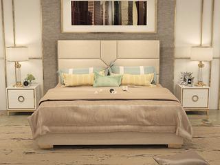 艾森轻奢意大利进口二层牛皮1.8*2.0米高箱床