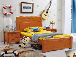 地中海 1.5m 柚木色 儿童床