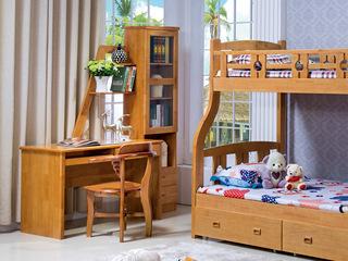榉木色连体书柜