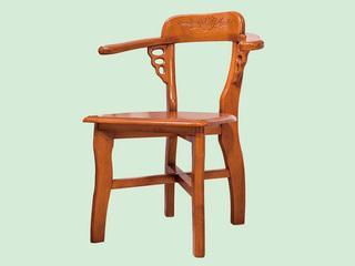 柚木色围椅