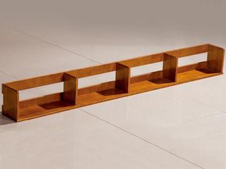 现代风格 柚木色 2m 实木 简易书架
