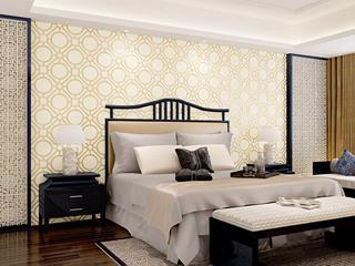 【包邮】简约卧室书房客厅电视背景 鹿皮绒墙纸
