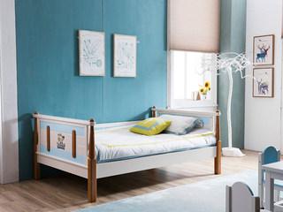 地中海实木儿童床506# 1.35米单床(不含书柜)