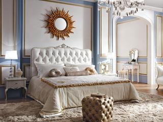 苔丝系列至美高档 雅致皮艺软包 立体雕花1.8米床