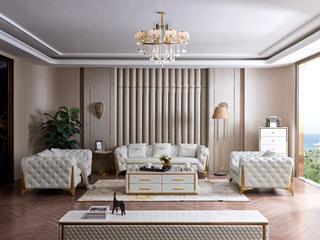慕梵希 轻奢 (1+2+3) 样色 优质头层黄牛皮  北美进口落叶松框架 C33沙发组合