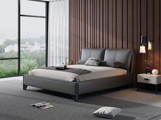 意式极简 头层真皮 C23床皮款 1.8*2.0米灰色皮艺床