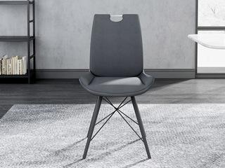 意式极简餐椅 H1005 深灰色 餐椅