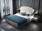皮坊工藝 輕奢系列106床 1.8*2.0米米黃色布藝床