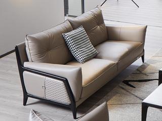 意式极简沙发 1805B皮艺三人沙发