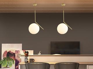 北欧 铜本色8826-1Φ30餐吊灯(含E14尖泡5W暖光)