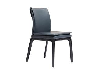 意式极简 进口红橡木 绿色 皮艺餐椅(单把价格 需双数购买 单数不发货)