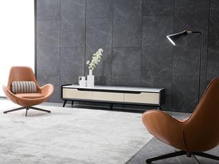 极简风格 优质皮艺LC017休闲椅
