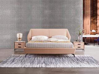 极简系列 接触面进口头层真皮 米棕色套床
